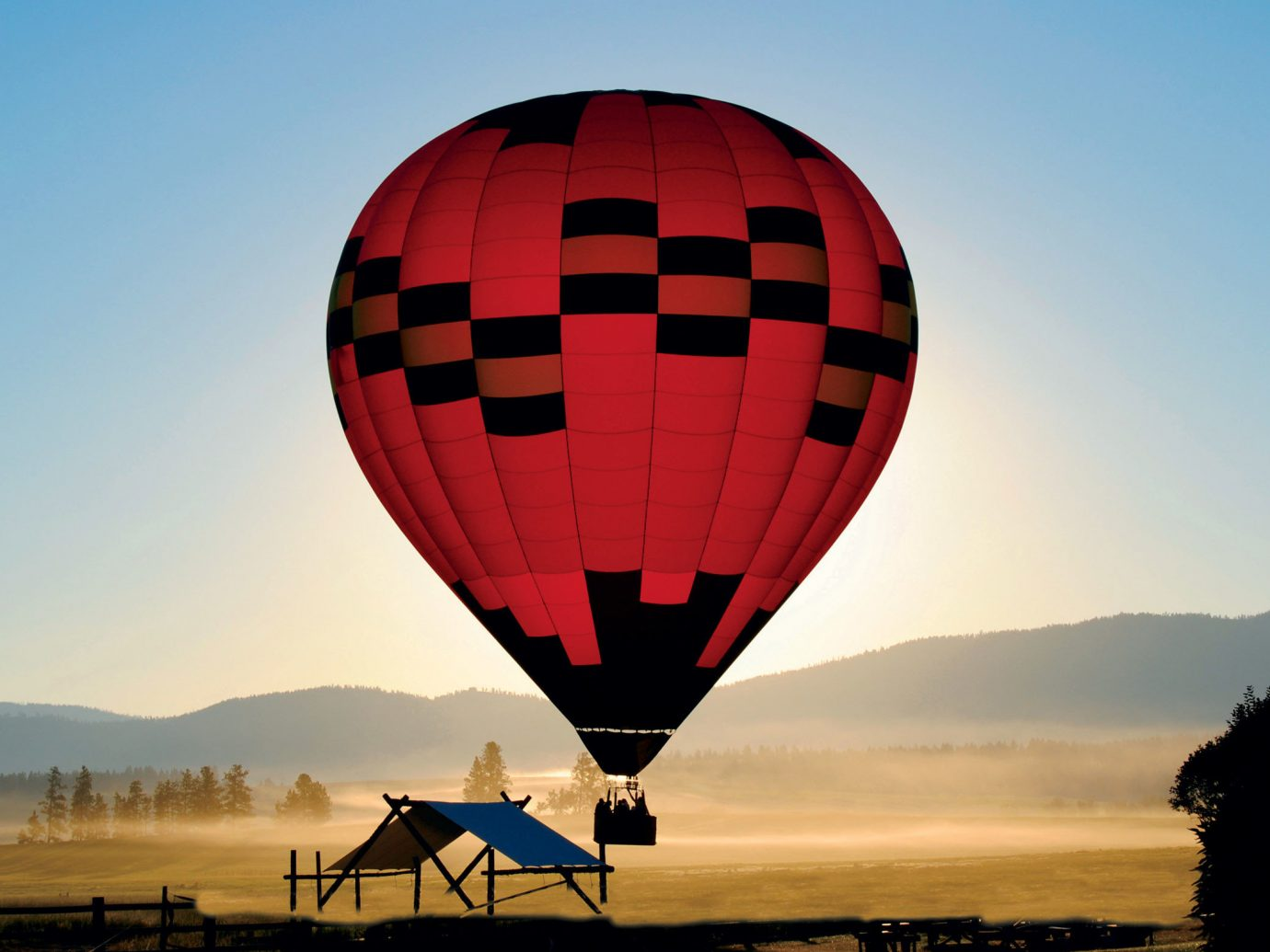 Glamping Luxury Travel Outdoors + Adventure aircraft balloon transport sky outdoor hot air ballooning Hot Air Balloon vehicle atmosphere of earth toy