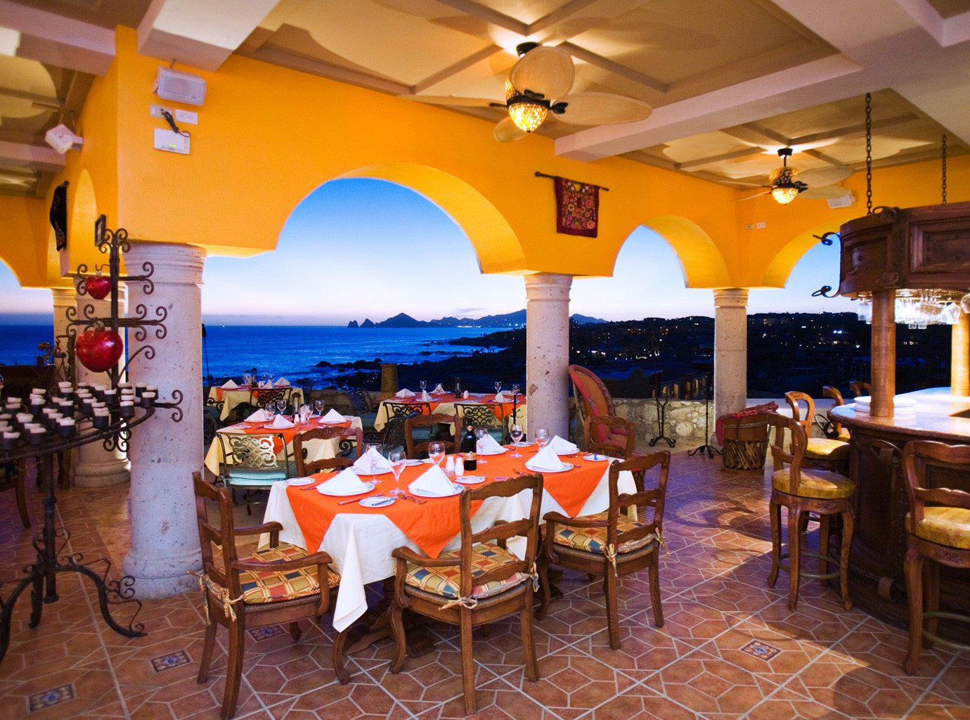 Beachfront Dining at Hacienda Encantada Resort