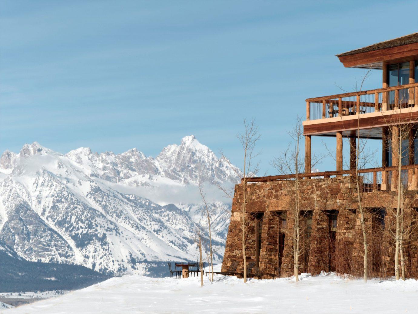 Hotels Luxury Travel Mountains + Skiing Trip Ideas sky snow outdoor mountain Winter season Resort Nature mountain range piste