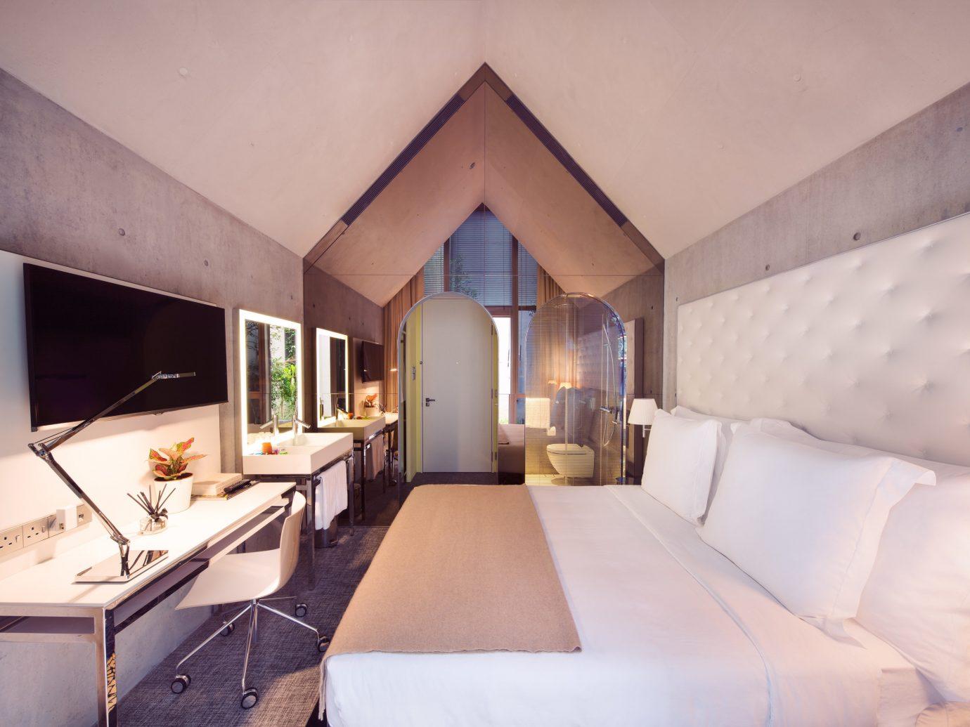 Hotels indoor wall room property ceiling house estate Villa Suite real estate home interior design Design cottage apartment Bedroom furniture