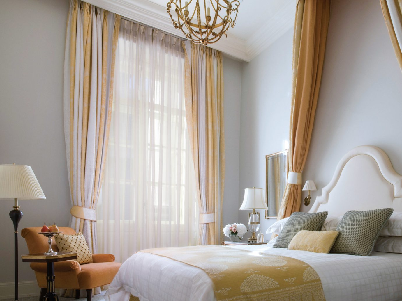 Hotels Luxury Travel wall indoor bed room ceiling Bedroom bed frame interior design window treatment curtain window covering hotel home window Suite textile furniture living room window blind bed sheet four poster mattress bedding interior designer decor