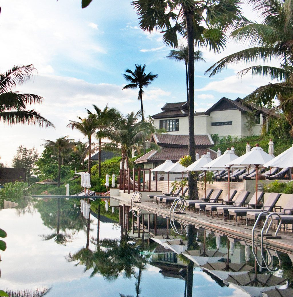 Beachfront Hotels Living Lounge Luxury Modern Pool Scenic views tree outdoor Resort vacation estate arecales tourism plant swimming pool walkway flower palm family palm lined several
