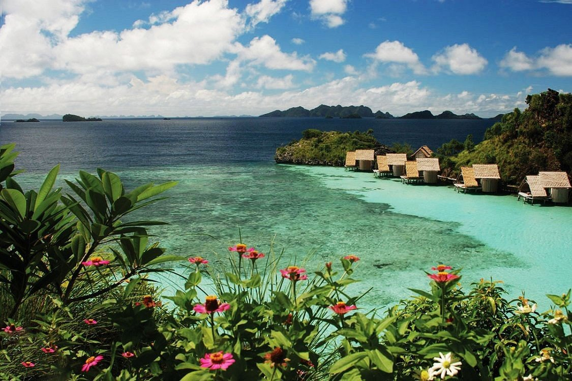 Trip Ideas sky water outdoor geographical feature Coast body of water Sea shore bay flower vacation Ocean tropics Nature landscape cove Beach plant caribbean Jungle Island overlooking