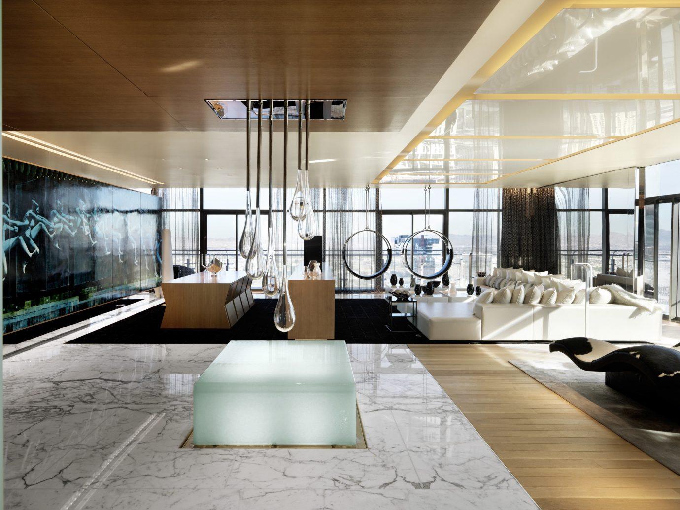 Living room in the Bentel & Bentel Penthouse Suites, The Cosmopolitan of Las Vegas