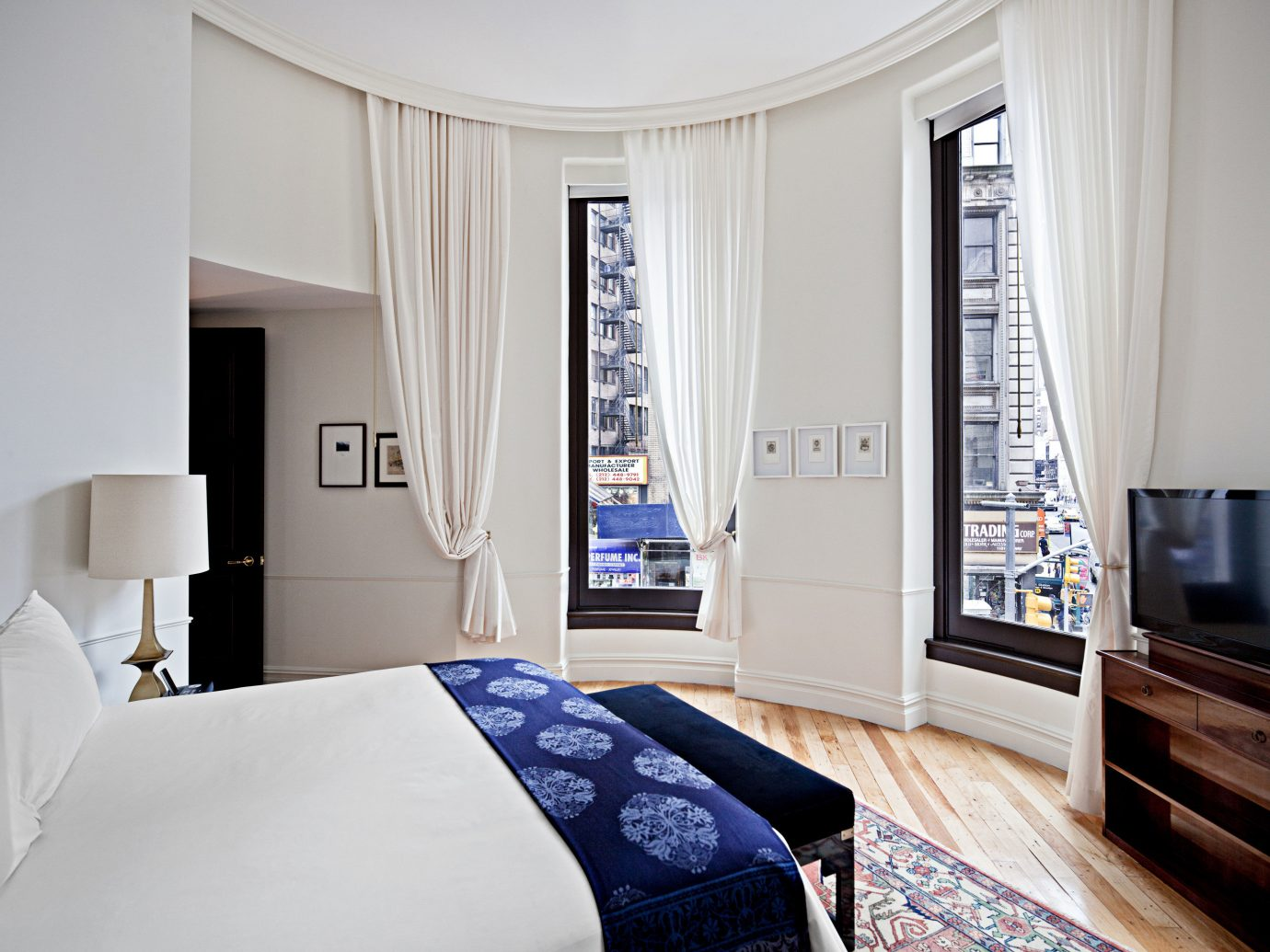 Bedroom City Hip Hotels Luxury Luxury Travel NYC Offbeat Romantic Hotels Trip Ideas indoor wall bed room floor property window home interior design hotel living room cottage Suite estate real estate furniture textile decorated