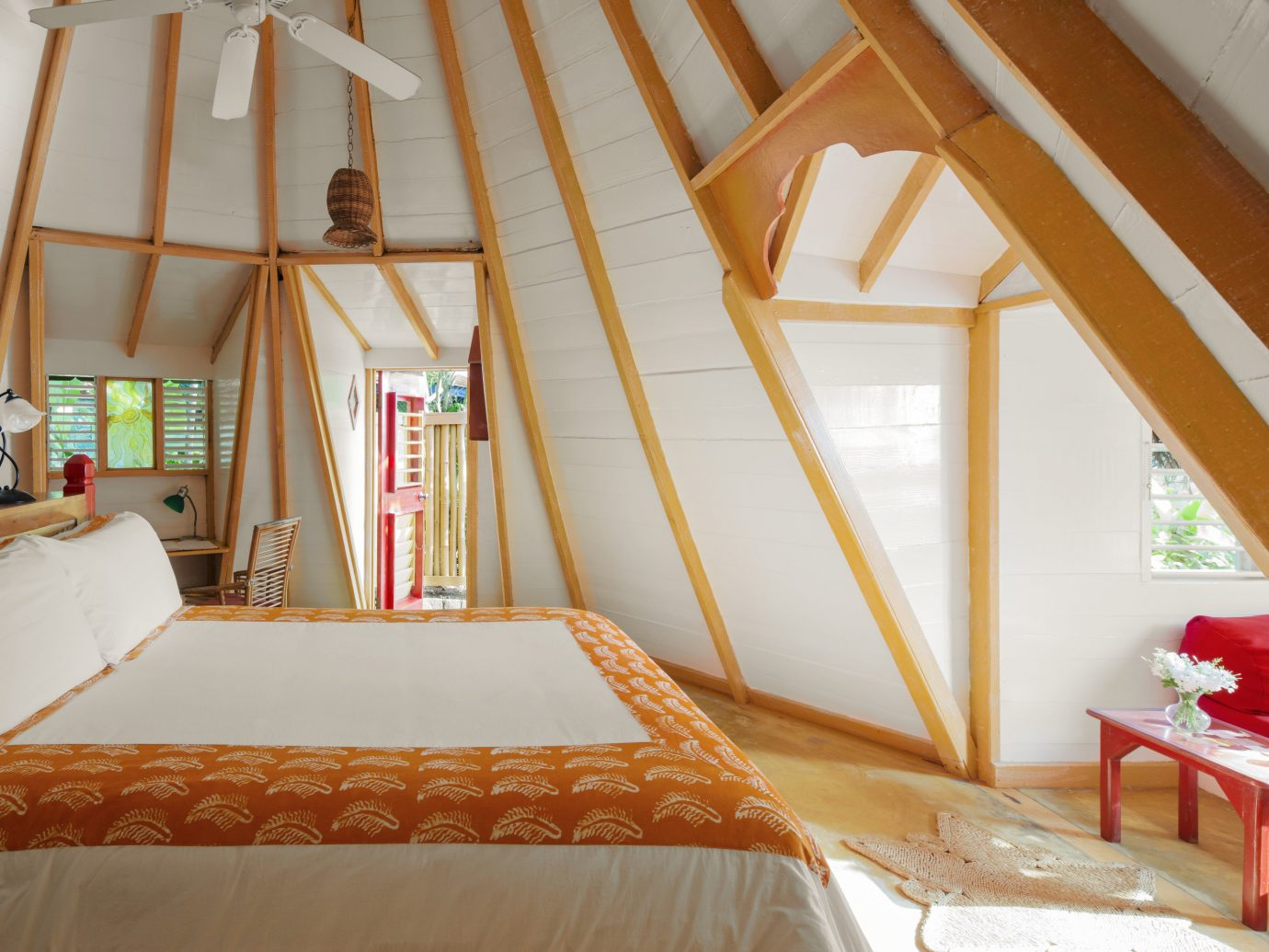Hotels indoor room property building bed Resort cottage Bedroom attic Villa Suite interior design estate