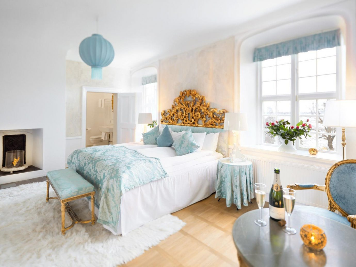 Denmark Finland Hotels Landmarks Luxury Travel Sweden indoor floor wall window room property estate Bedroom living room home real estate cottage Suite interior design Villa farmhouse apartment furniture decorated