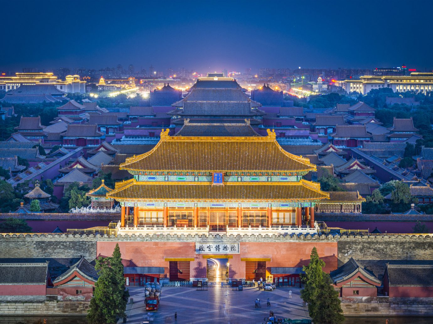 Trip Ideas outdoor sky landmark building cityscape City reflection night tourism evening temple palace place of worship stadium