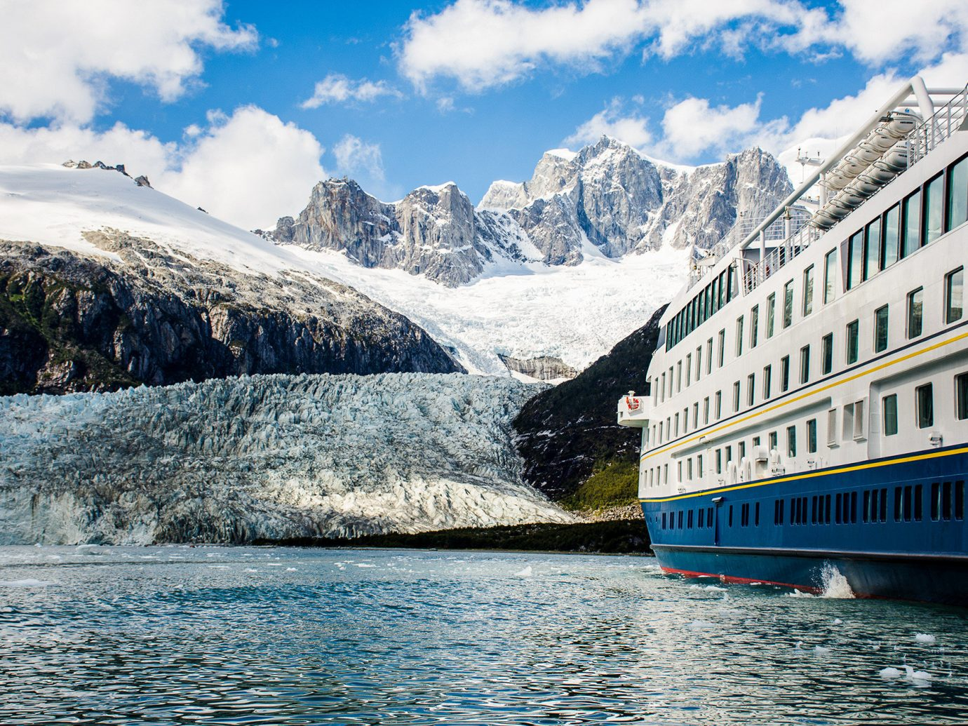 Cruise Travel Luxury Travel Trip Ideas outdoor sky water mountainous landforms mountain reflection mountain range Lake glacial landform fjord cloud alps tourism snow glacier landscape tree travel Winter mount scenery cruise ship River day