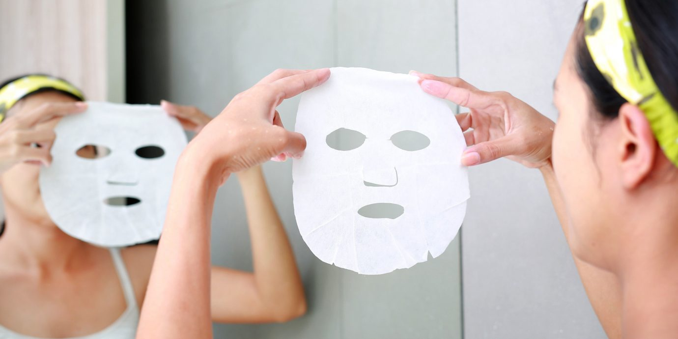 Health + Wellness Travel Shop Travel Tips person wall face skin indoor head smile mask product design