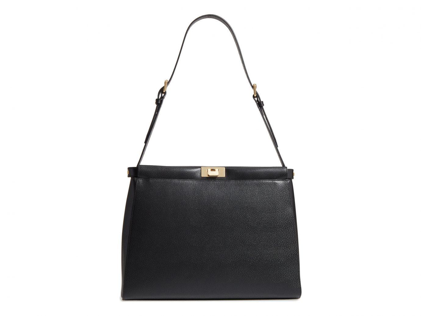 Packing Tips Style + Design Travel Shop Weekend Getaways bag black white handbag shoulder bag leather product accessory product design brand rectangle strap