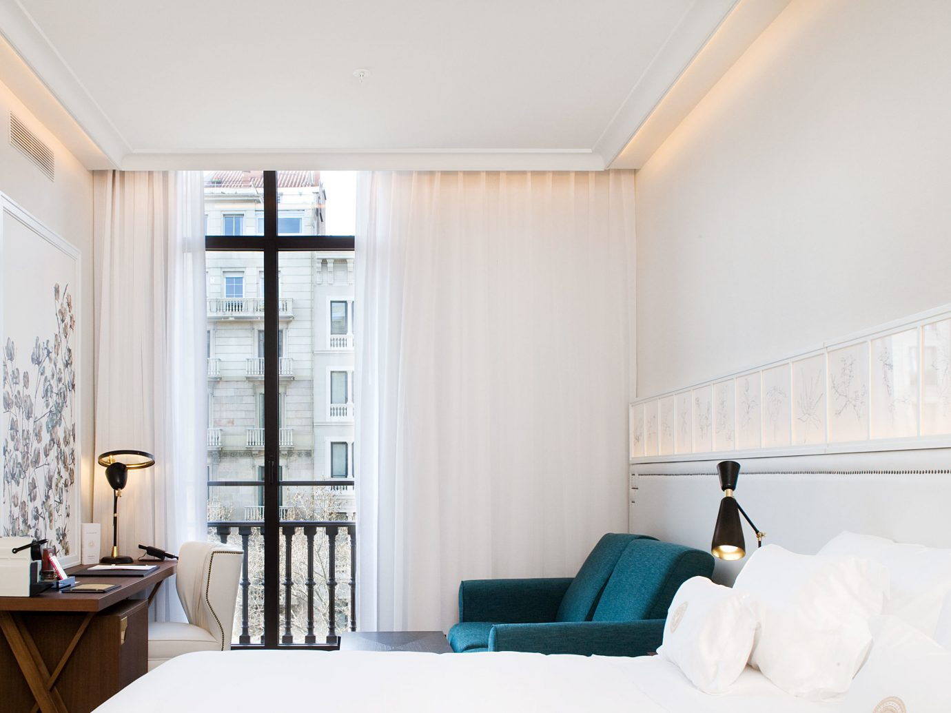 Boutique Hotels Hotels indoor wall ceiling floor room window property Living home interior design living room furniture Bedroom real estate Design window covering estate apartment Suite