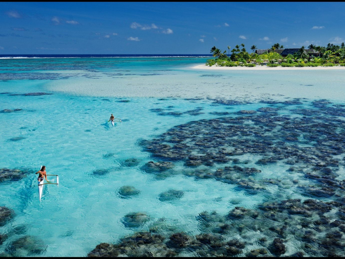 Beach calm clear water Hotels isolation kayaking kayaks Luxury Travel Ocean people remote serene Tropical turquoise Water activities white sands water sky outdoor habitat marine biology Sea caribbean reef biology Lagoon coral reef wind wave Island bay Coast underwater islet blue cay wave atoll cape swimming shore day