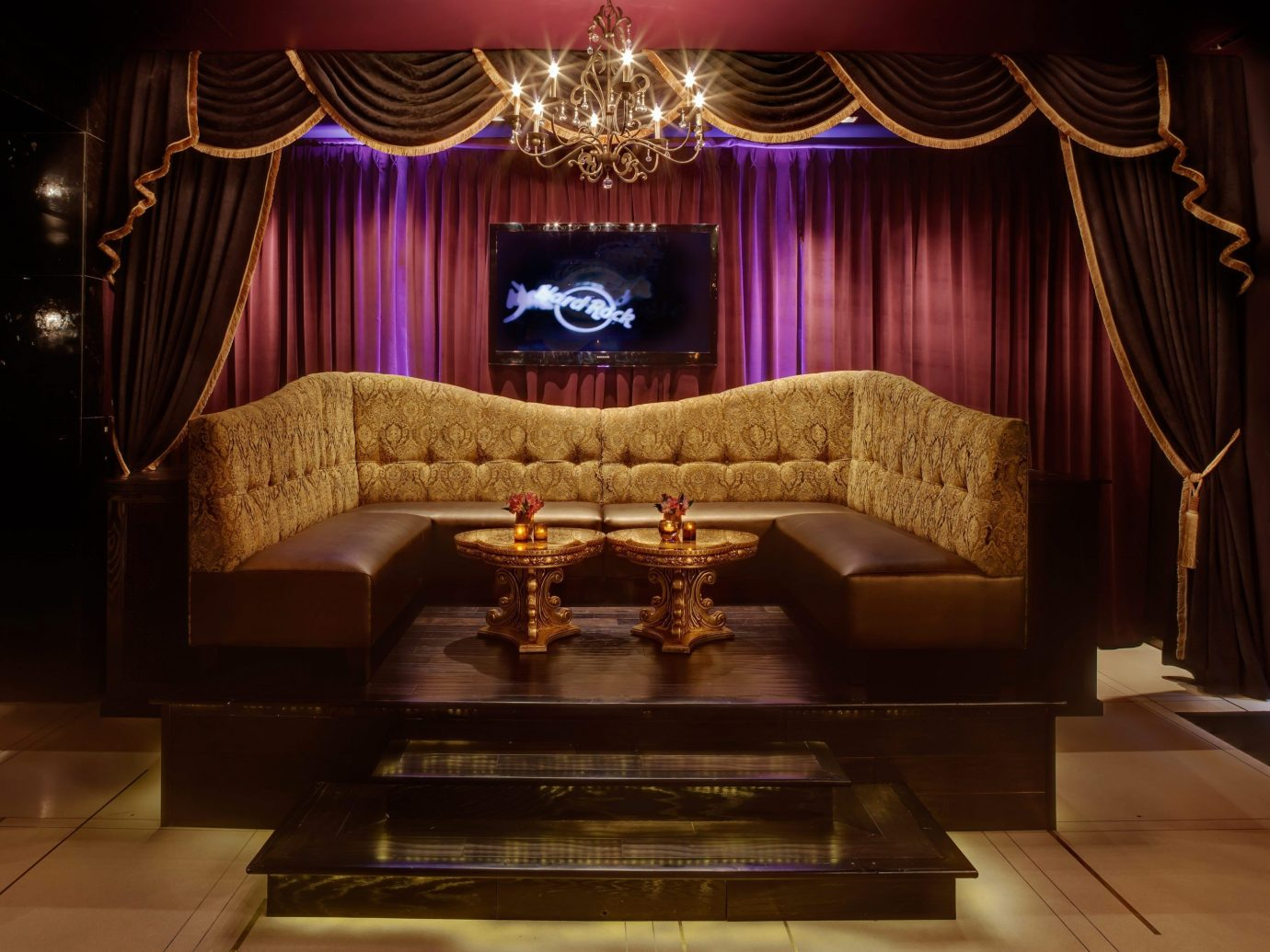 Hotels indoor stage interior design theatre Lobby curtain decorated