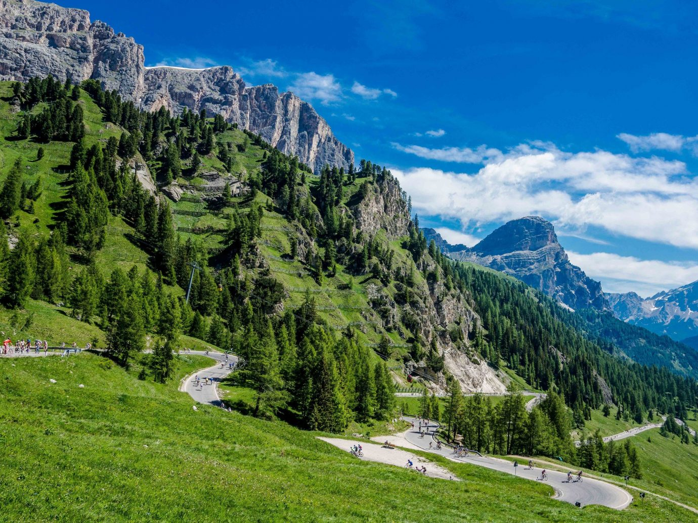 Bike Dolomites Trip Ideas mountain outdoor grass Nature mountainous landforms mountain range geographical feature valley landform wilderness alps canyon mountain pass ridge meadow landscape hillside plateau walking Adventure hill park hiking lush grassy highland