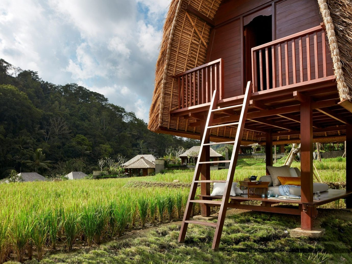 Health + Wellness Hotels grass outdoor sky house agriculture rural area lawn hut cottage outdoor structure