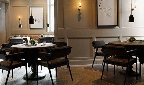 Food + Drink floor indoor wall dining room room property restaurant interior design Design table living room