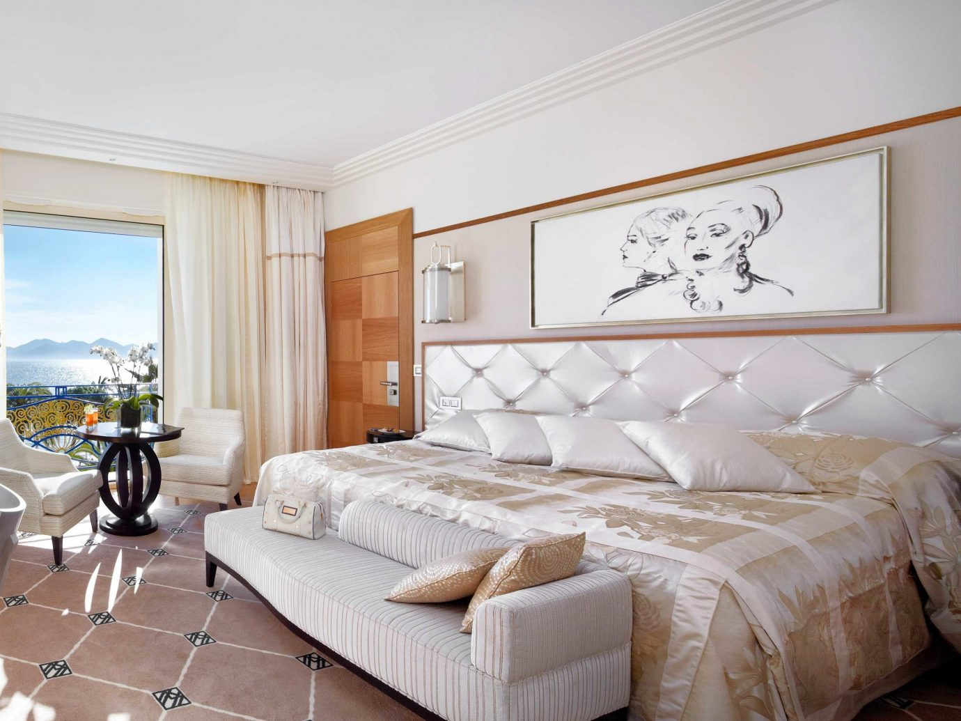 Beachfront Bedroom Cannes Southern France