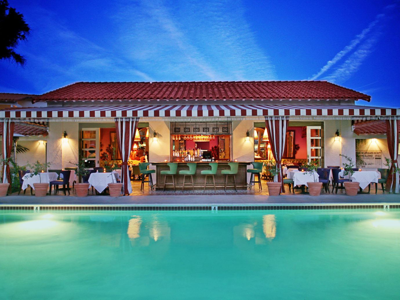 Bar Boutique Budget Exterior Pool building sky Resort outdoor swimming pool leisure property estate vacation Villa resort town hacienda mansion home palace blue hotel