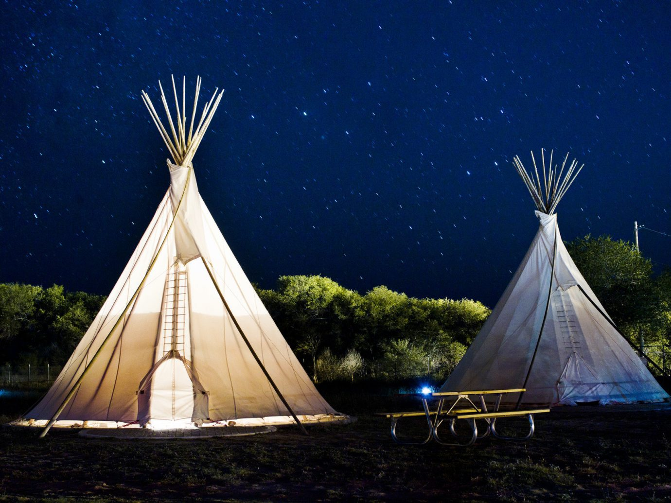 artistic artsy calm Exterior Hip isolation night Night Sky quirky remote serene stars teepee trendy Trip Ideas tepee building outdoor landmark vehicle