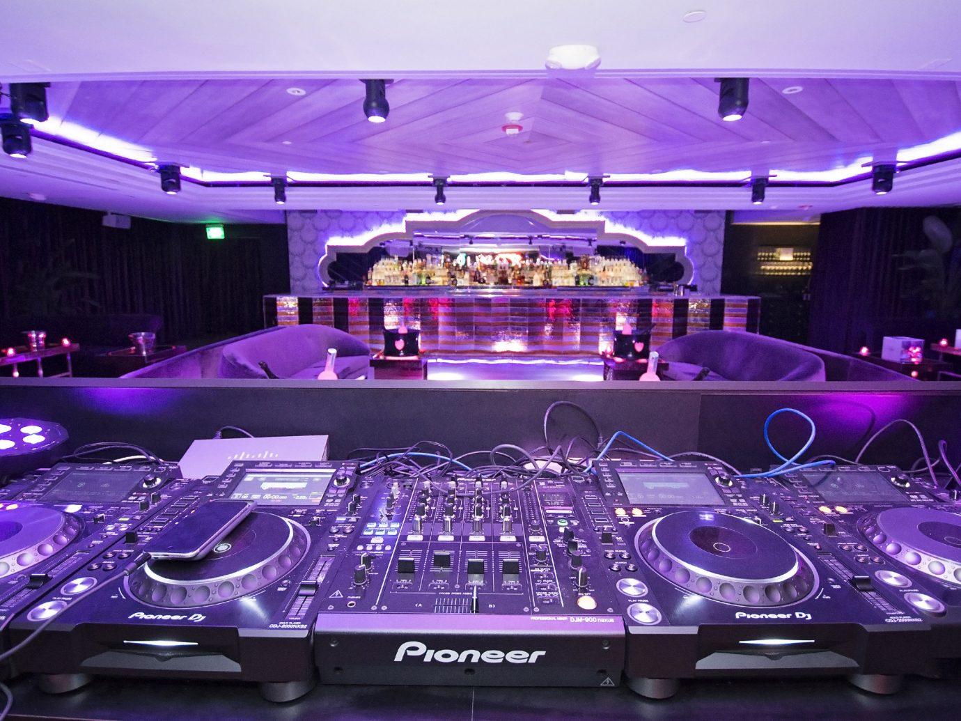 Trip Ideas indoor purple stage nightclub game music venue disco