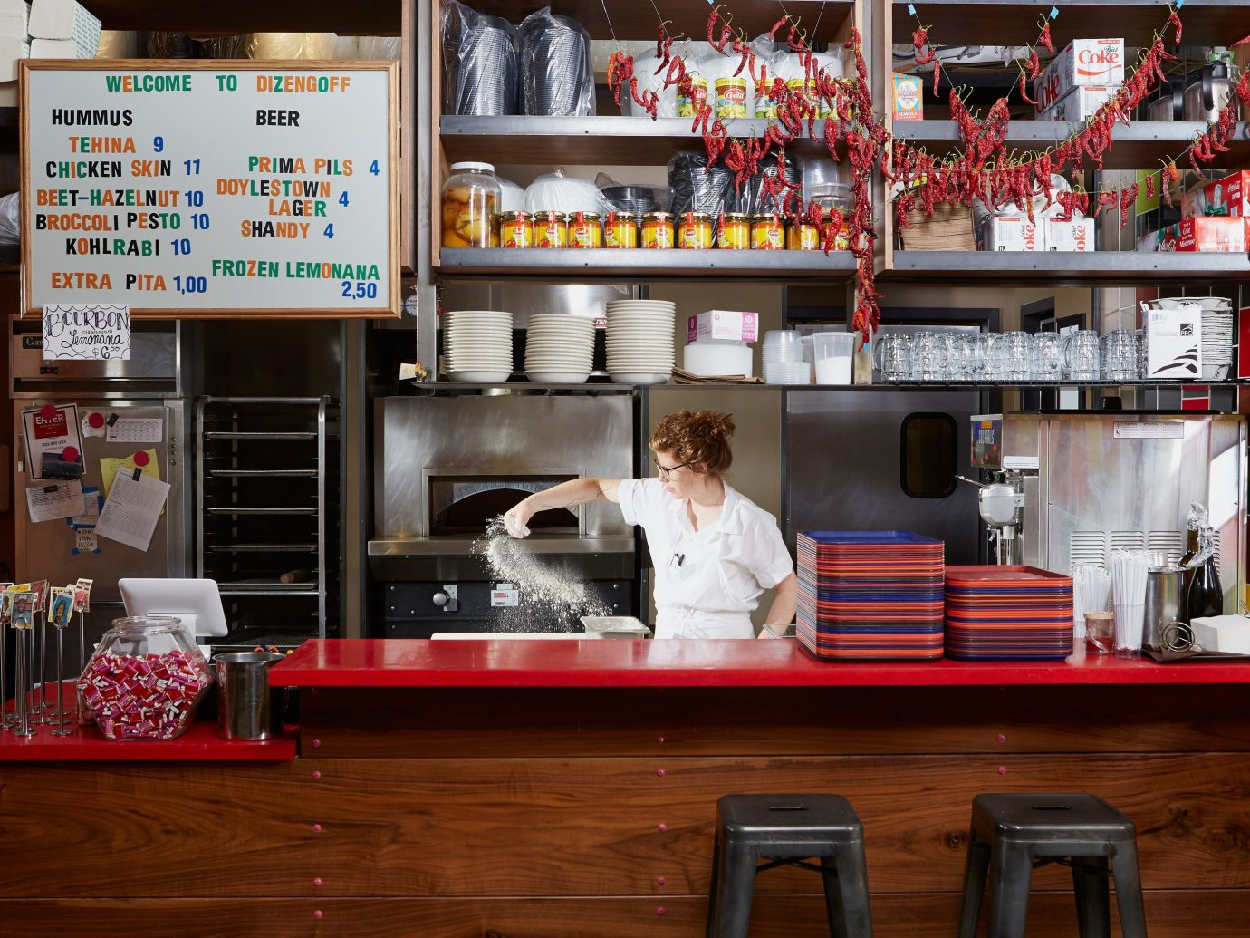 Food + Drink indoor shelf restaurant interior design grocery store food retail Bar