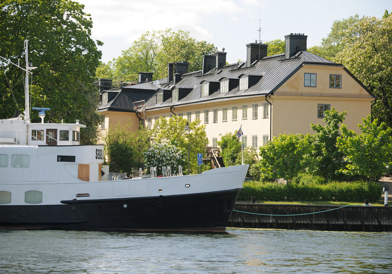 Hotels Stockholm Sweden water tree outdoor Boat waterway water transportation watercraft motor ship ship vehicle tugboat house channel Canal River bayou