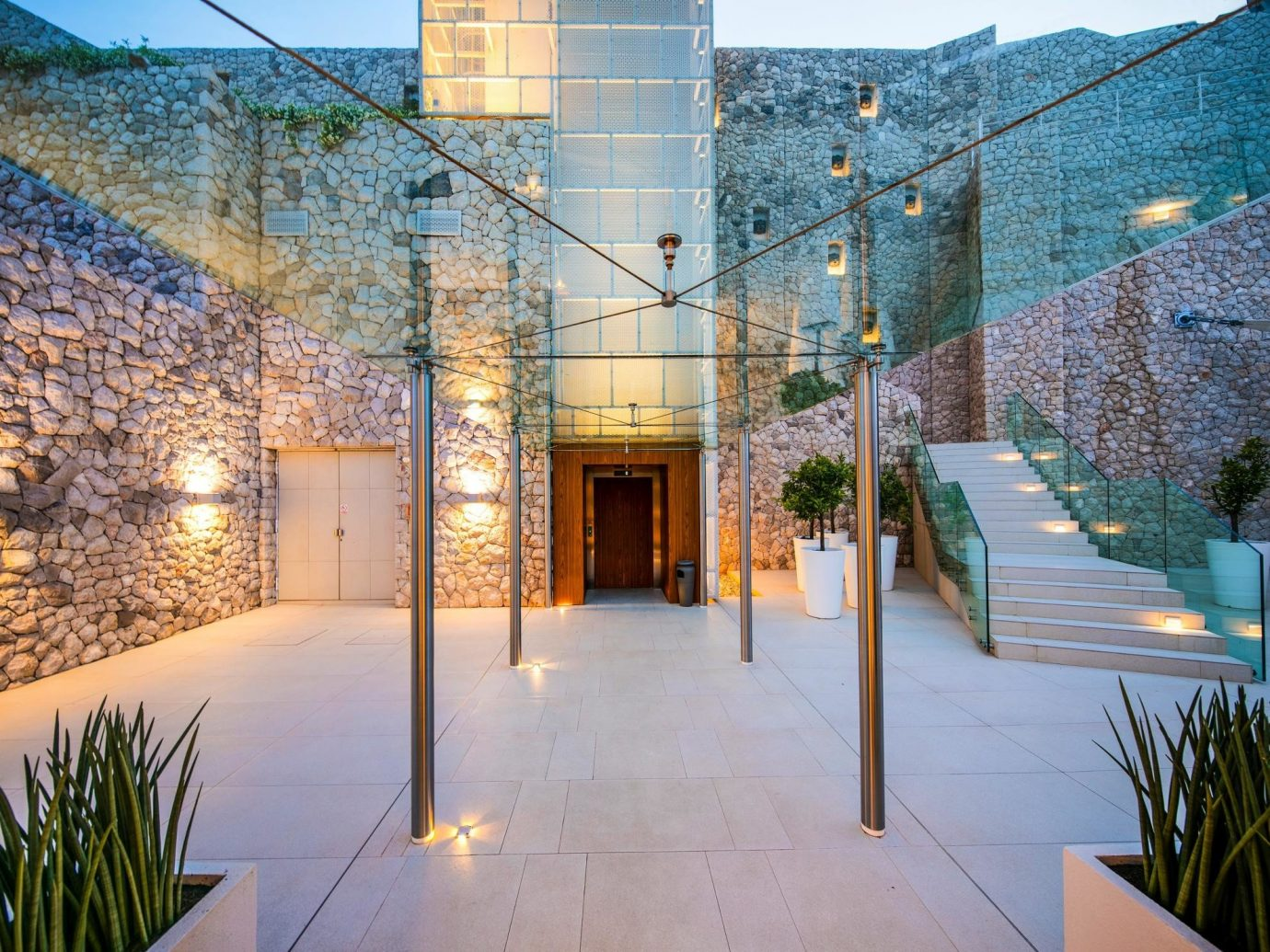 Hotels outdoor house building Architecture Courtyard neighbourhood estate home facade professional lighting interior design plaza Lobby