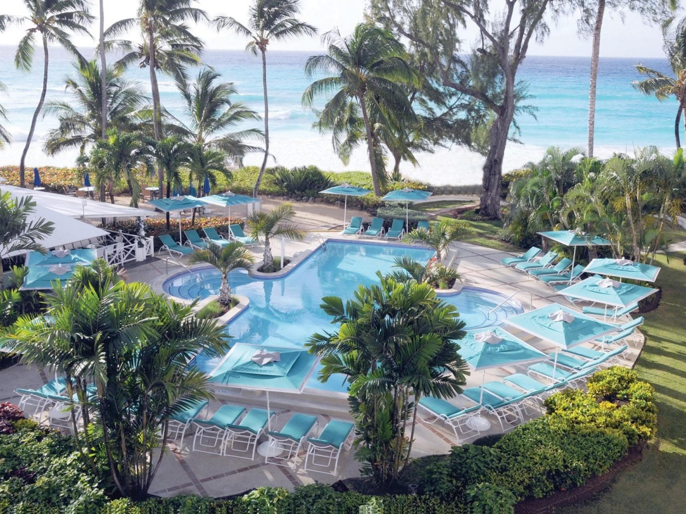 All-Inclusive Resorts Hotels tree outdoor Resort swimming pool palm leisure plant resort town palm tree arecales real estate estate condominium vacation tourism hotel recreation lined shade