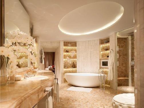 Hotels Luxury Travel indoor bathroom wall floor property interior design room ceiling sink estate Suite home flooring interior designer tile Bath bathtub dining table