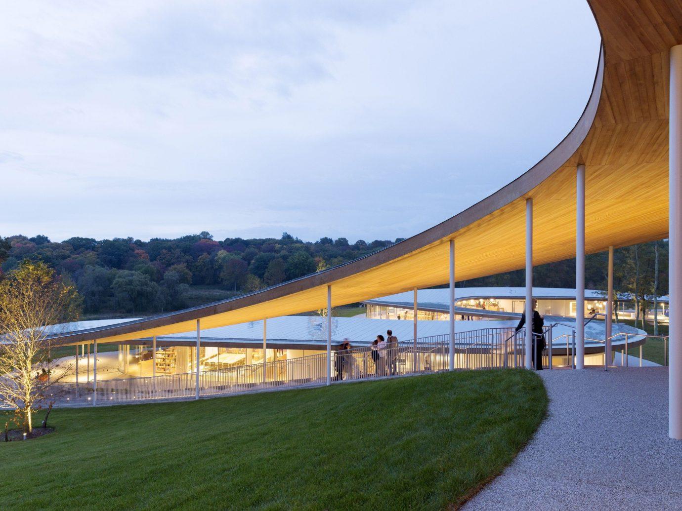Trip Ideas grass sky outdoor structure bridge building Architecture sport venue overpass stadium arch