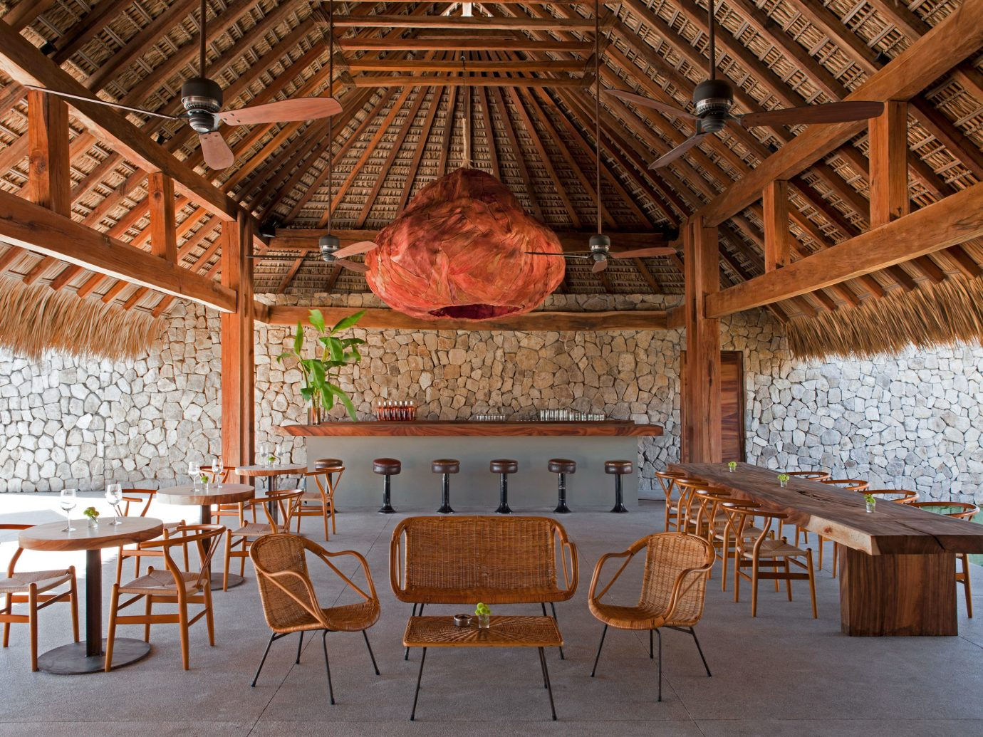Outdoor dining at Hotel Escondido, Puerto Escondido, Mexico
