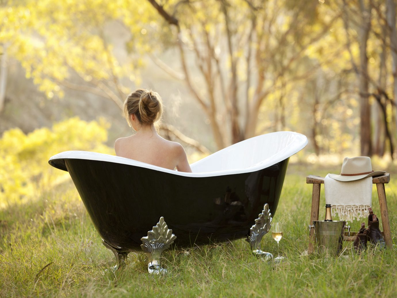 Health + Wellness Hotels Spa Retreats grass tree outdoor season lawn morning spring backyard Picnic flower autumn