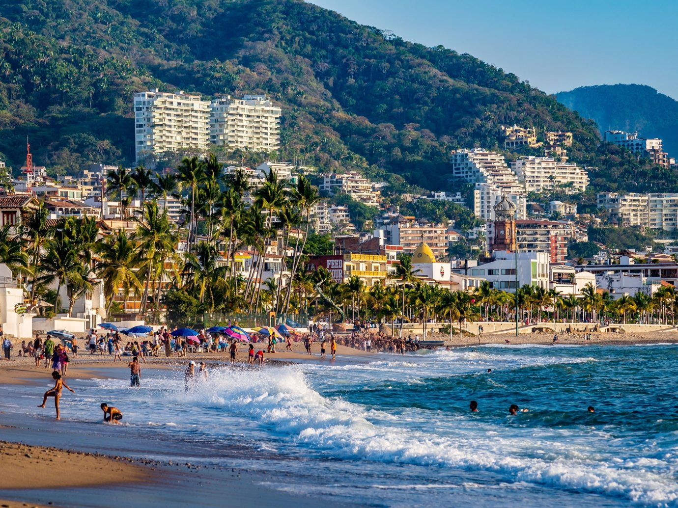 people playing on the beach in Puerto Vallarta, Mexico