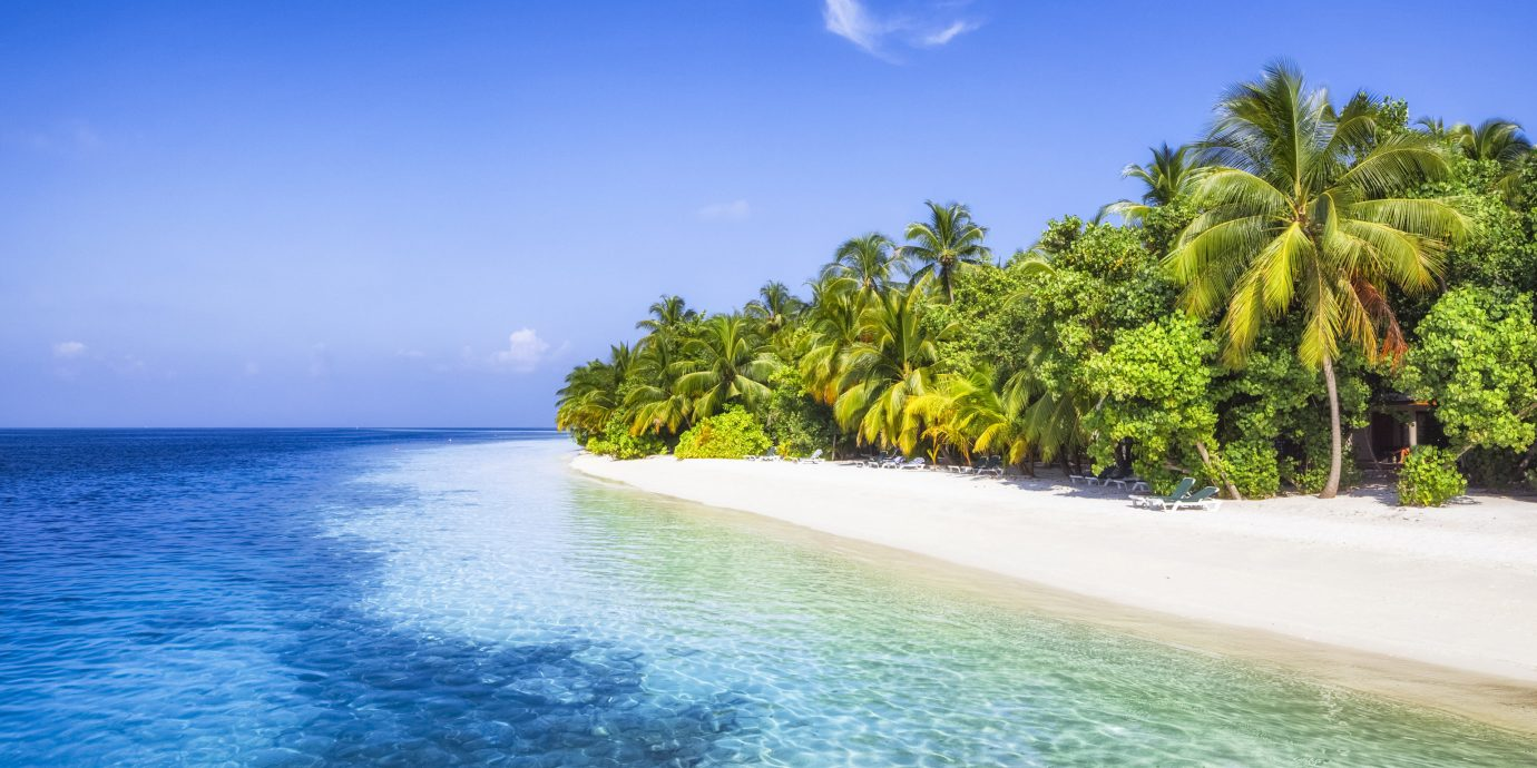 Hotels Style + Design Trip Ideas water outdoor sky tree landform geographical feature Sea Beach caribbean Ocean reef body of water shore Nature horizon Coast vacation tropics arecales Island bay Lagoon islet cape Lake wave swimming day