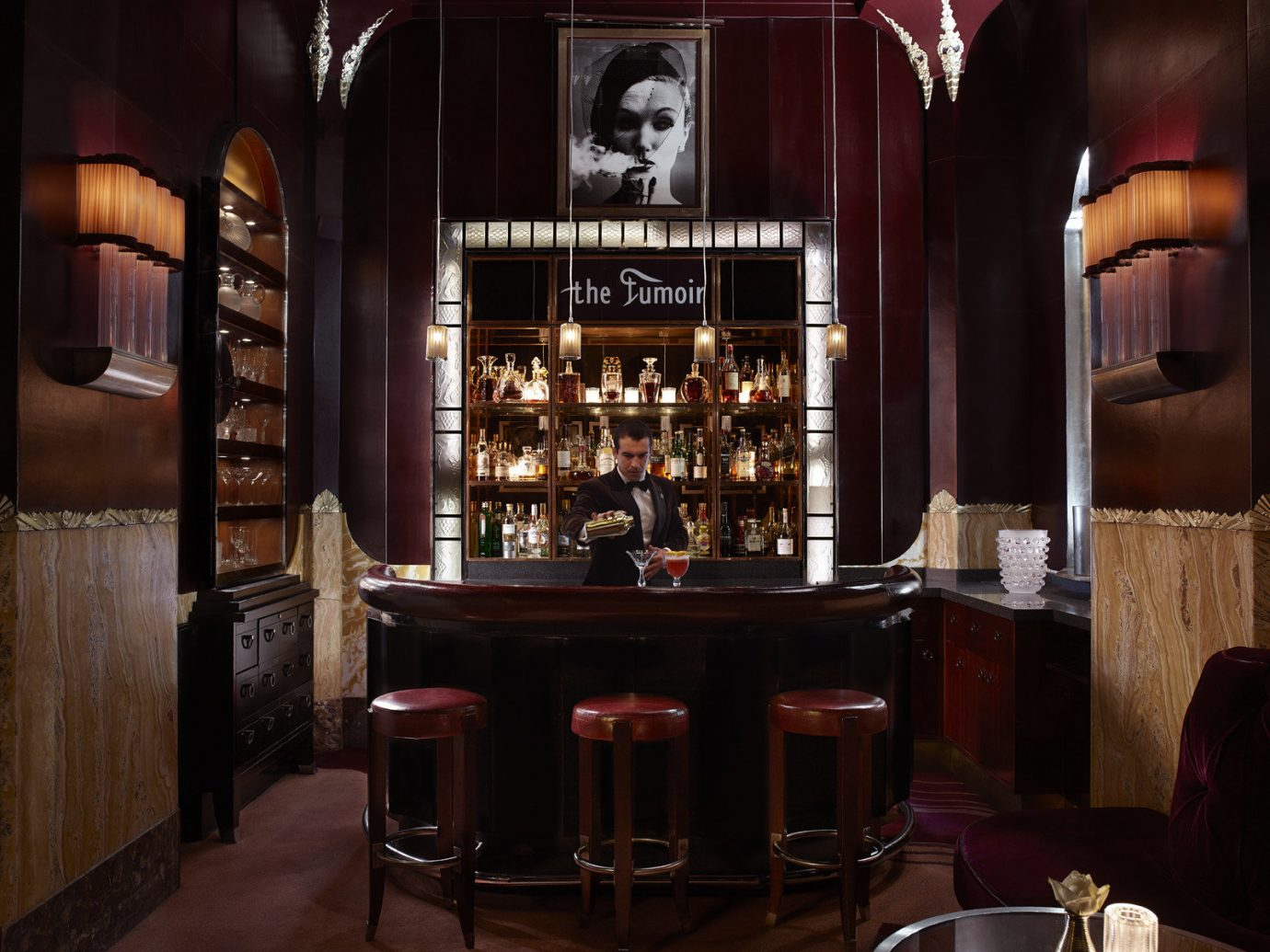Hotels London Luxury Travel indoor Bar restaurant interior design lighting Winery estate