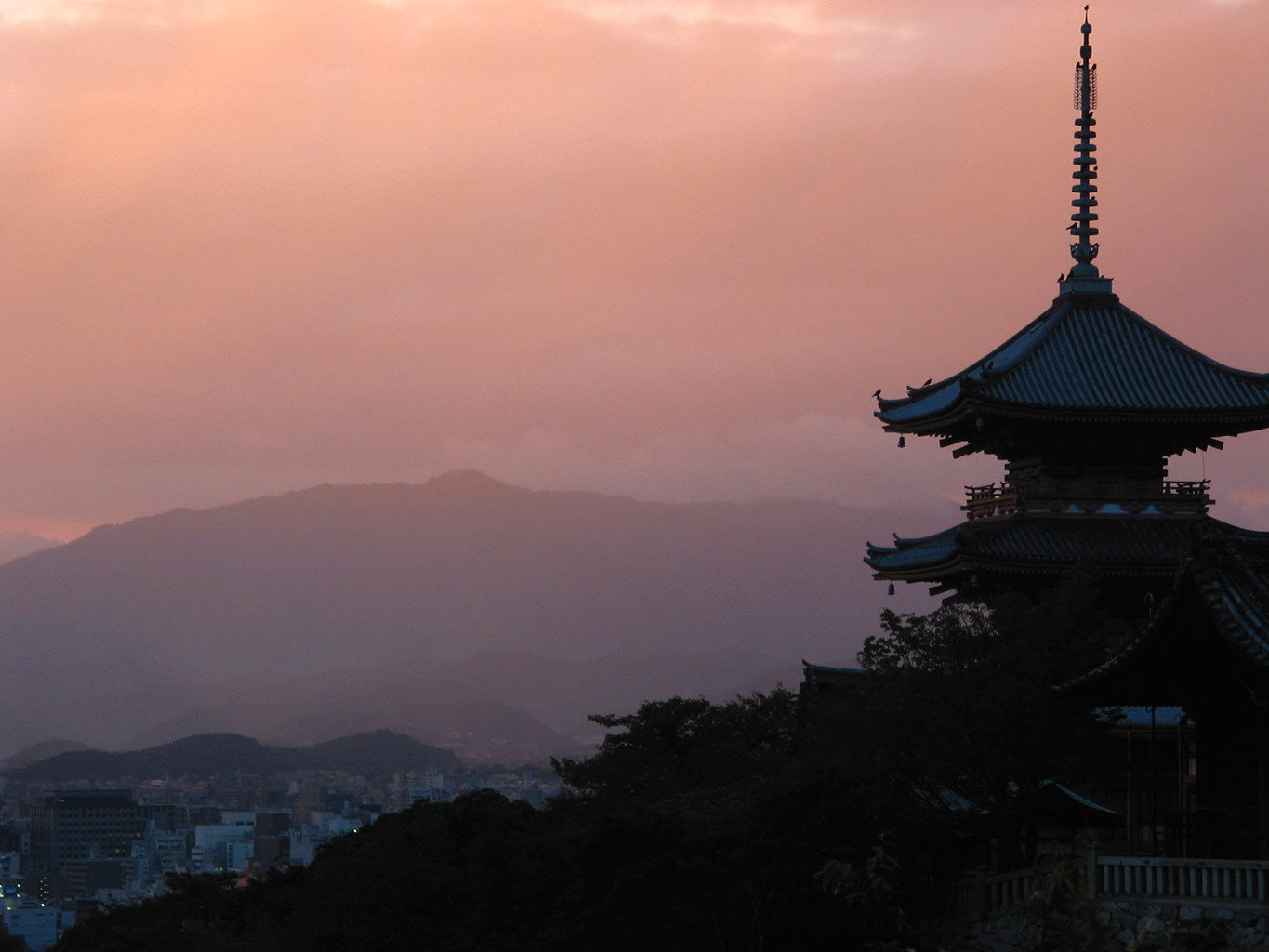 Beauty Buildings Cultural Health + Wellness Japan Kyoto Natural wonders San Francisco Scenic views Travel Tips outdoor sky atmospheric phenomenon dawn sunrise Sunset horizon cloud tower evening dusk morning mountain reflection temple distance