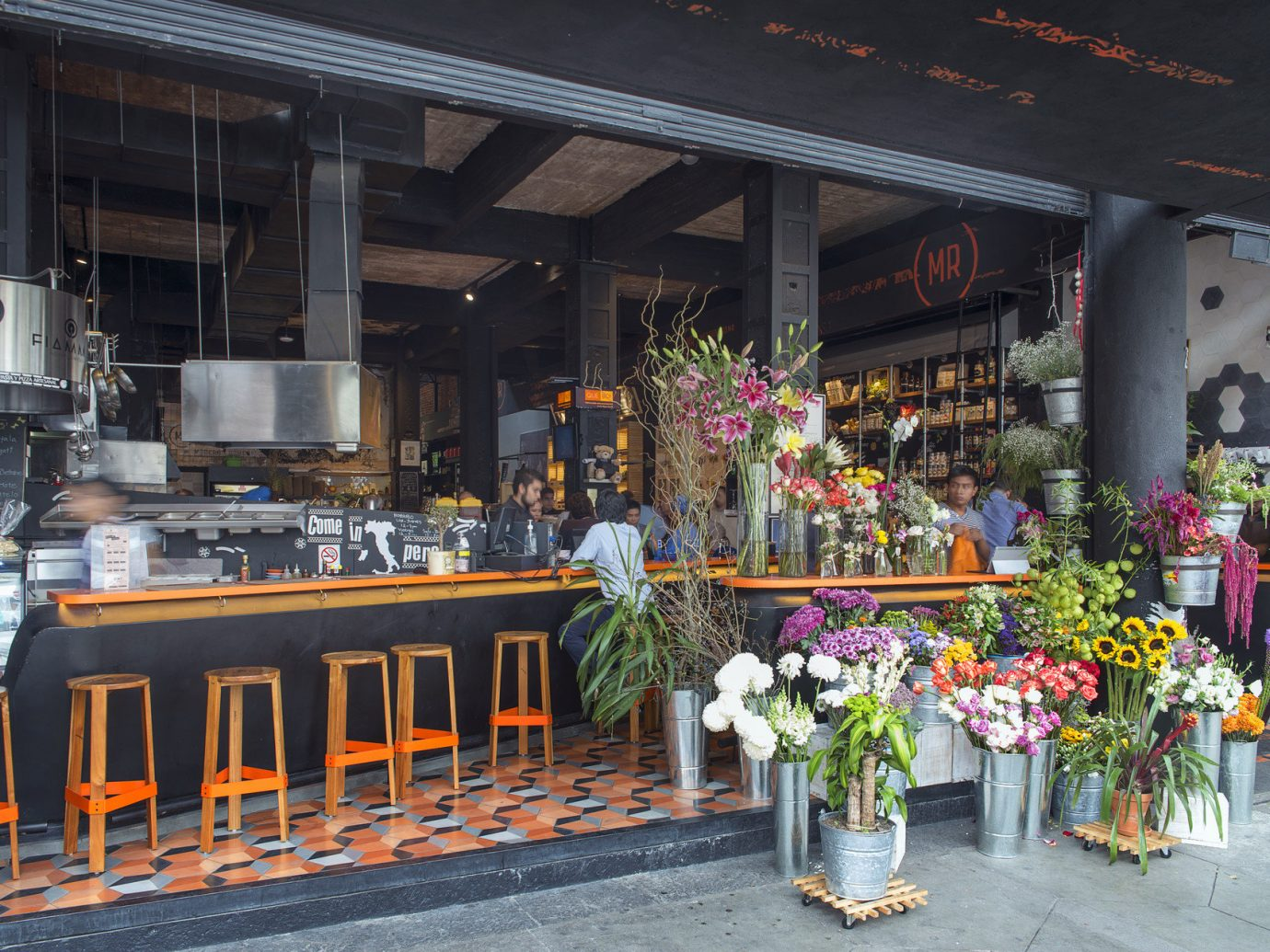 Food + Drink building outdoor floristry retail restaurant colorful