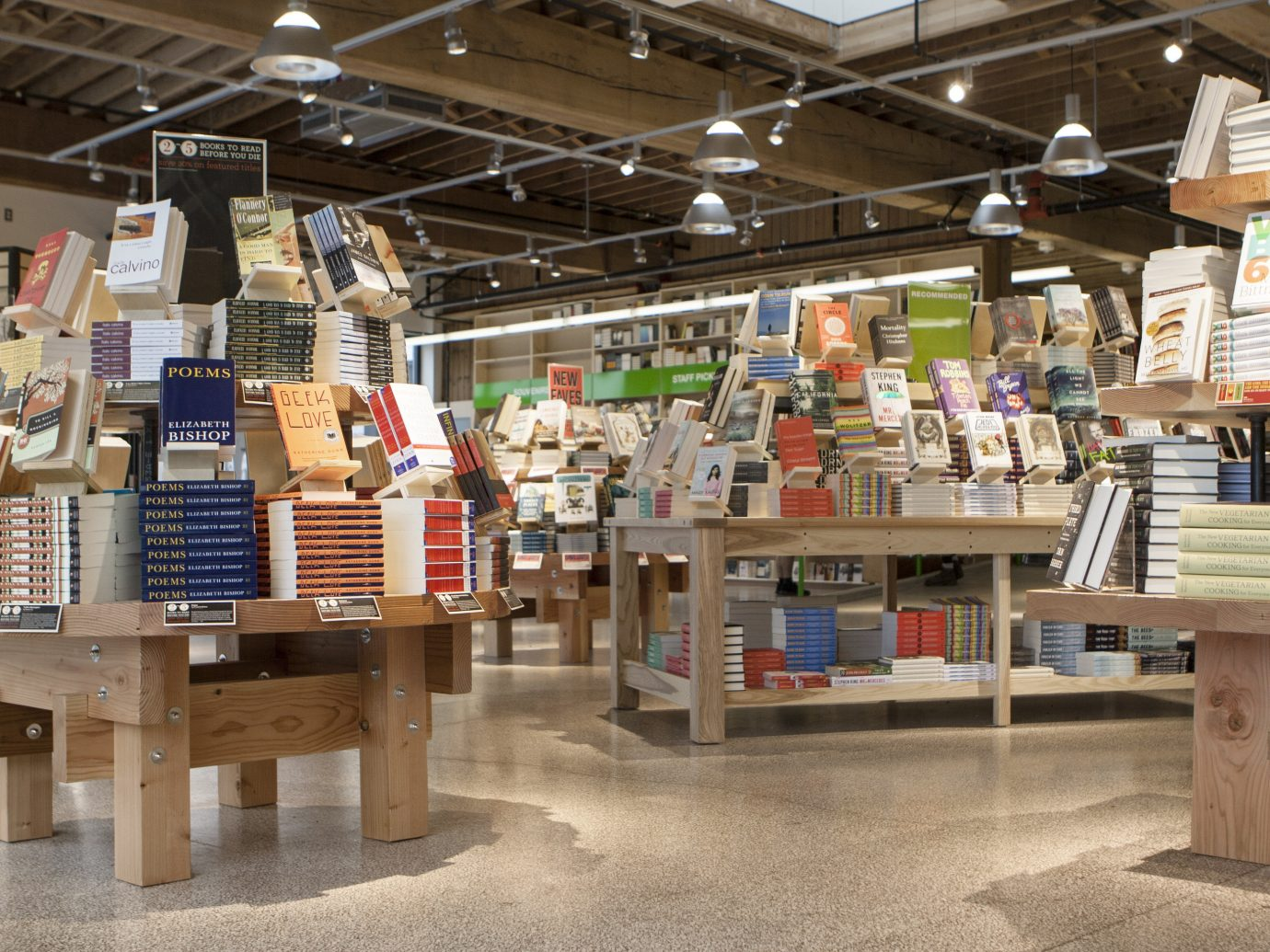 Food + Drink Offbeat Style + Design Trip Ideas Weekend Getaways indoor ceiling floor City public space bookselling retail supermarket library grocery store market