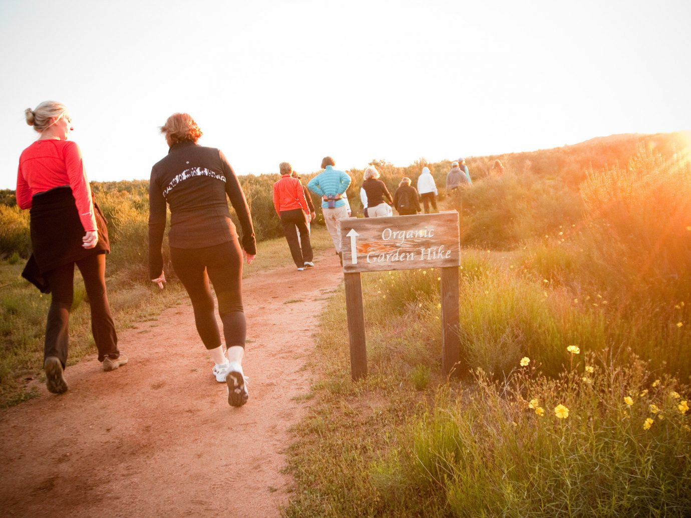 Health + Wellness Hotels Yoga Retreats sky outdoor color grass photograph image people morning season sunlight running sports walking