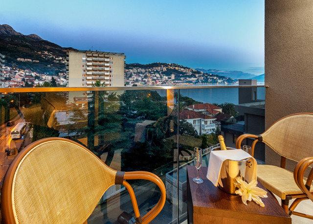 chair yellow Resort restaurant overlooking