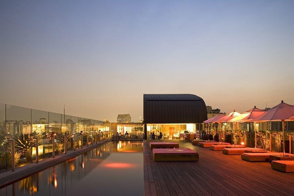 sky night scene evening Resort dusk lighting Sunset cityscape line