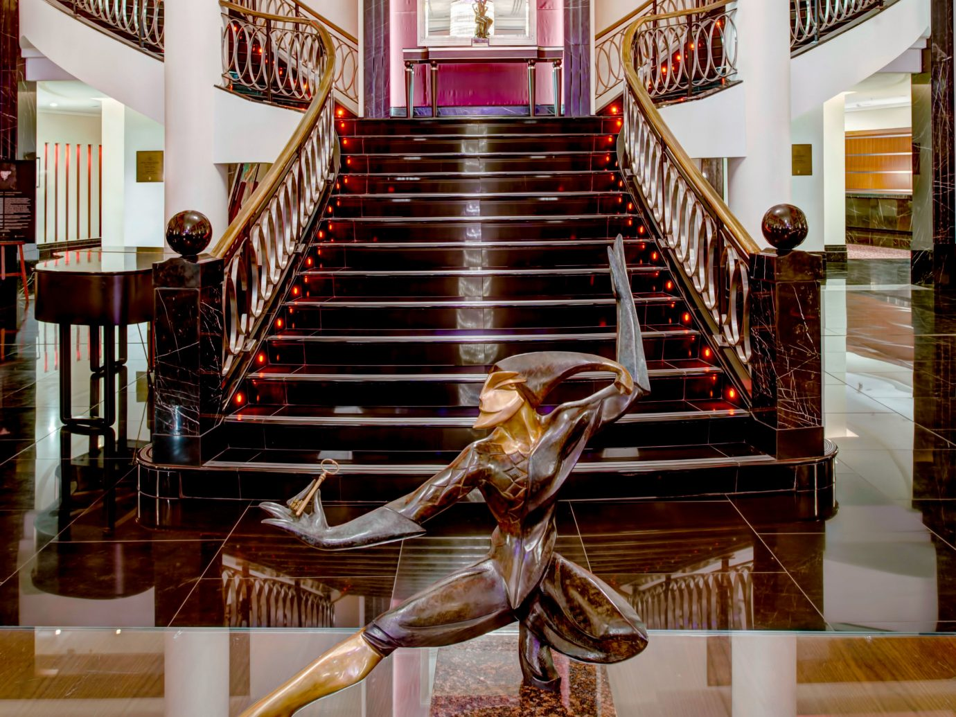 Hotels Luxury Travel indoor stairs interior design flooring Lobby tourist attraction furniture wood handrail hardwood floor