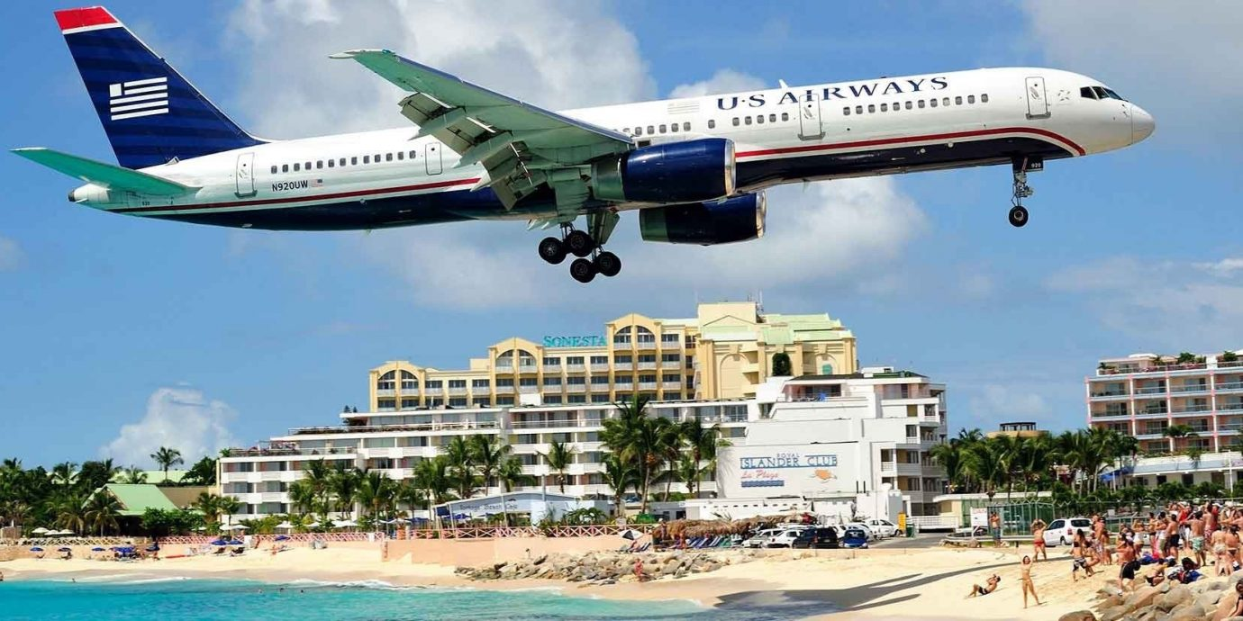 Offbeat sky outdoor airline airplane airliner vehicle aircraft aviation jet aircraft landing