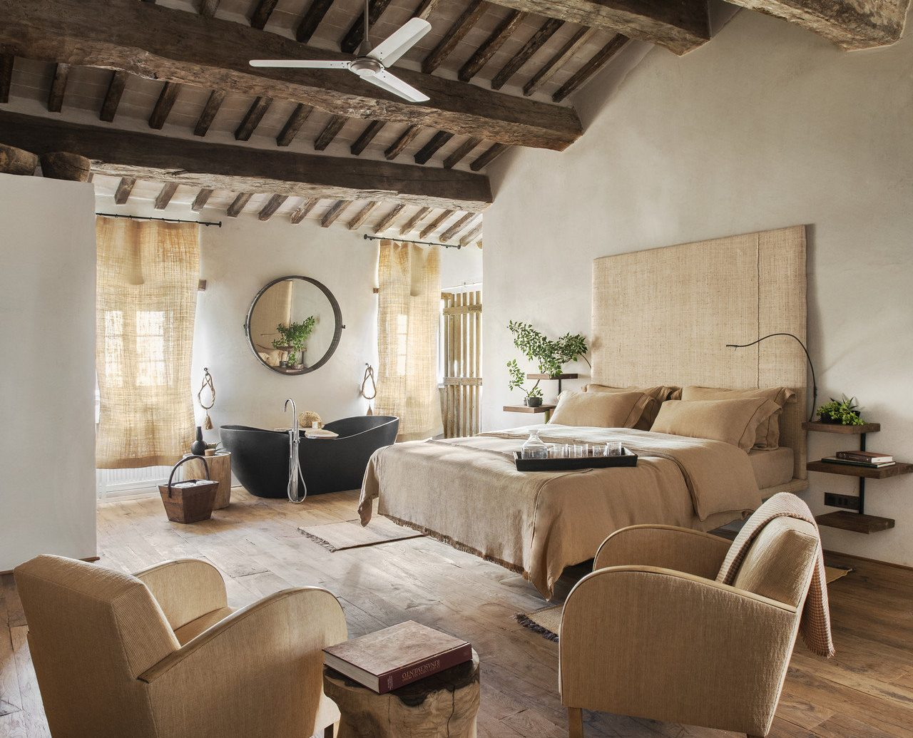 bed Bedroom charming cozy europe homey interior quaint Rustic Trip Ideas indoor room property living room house estate home wood floor farmhouse cottage interior design Villa attic sofa stone