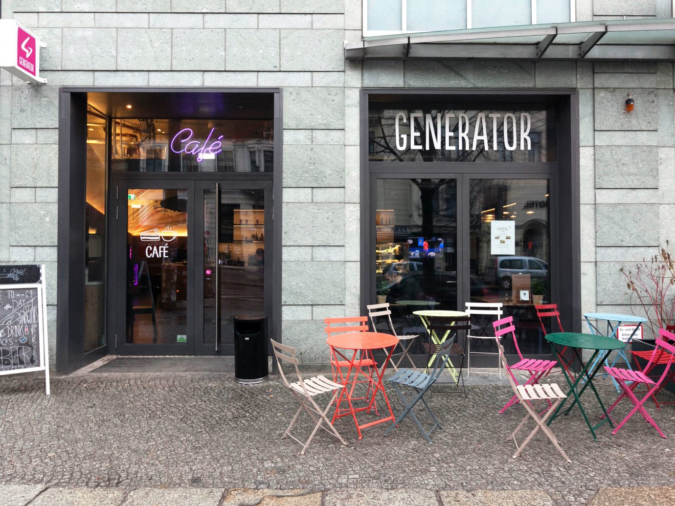 Berlin Boutique Hotels Buildings Exterior Germany Hotels Luxury Travel building outdoor ground street restaurant Bar stone curb