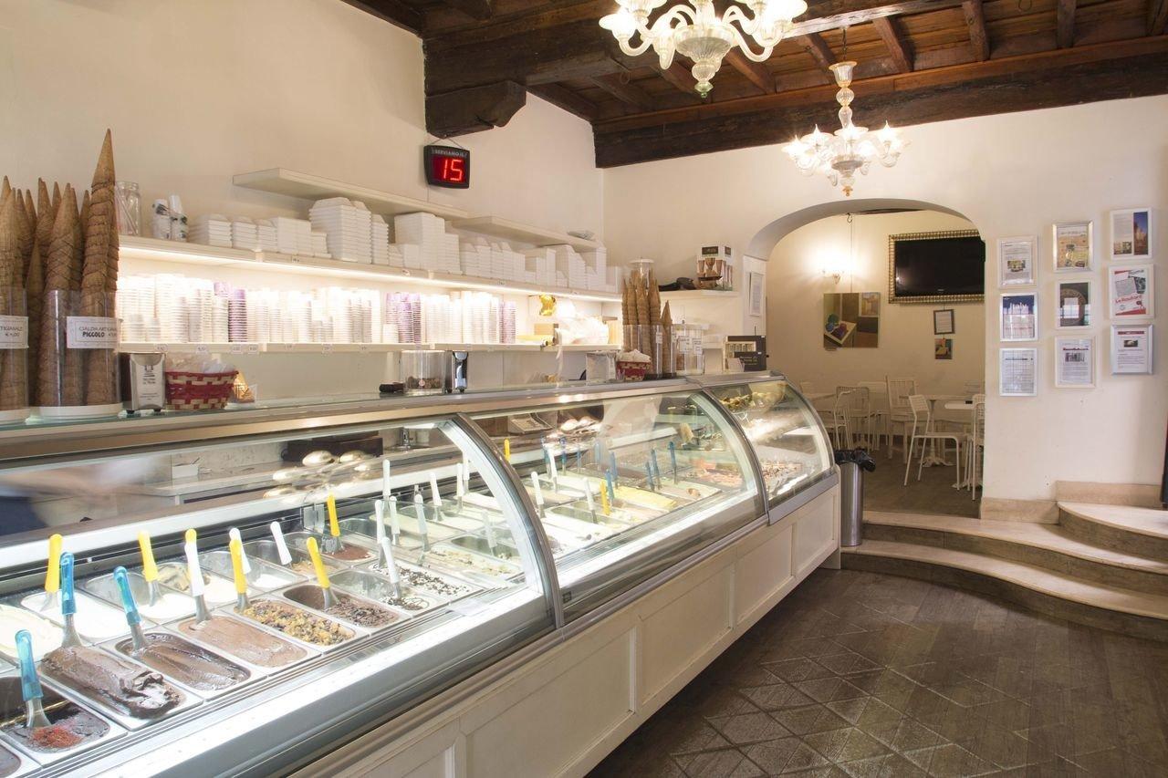 Food + Drink indoor floor Kitchen bakery dairy product counter food appliance