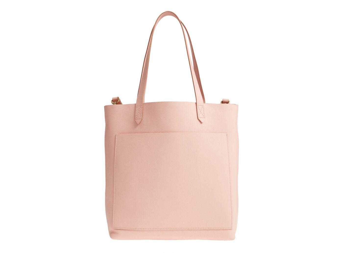 Style + Design Travel Shop white handbag pink bag accessory shoulder bag brown fashion accessory beige product leather peach tote bag case product design caramel color brand