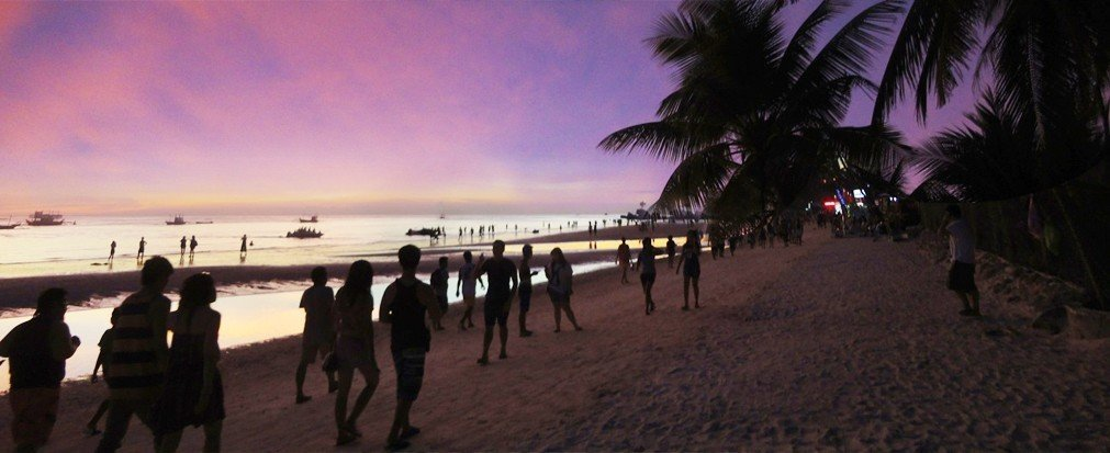 Trip Ideas Beach outdoor sky ground people walking shore group Nature evening Coast tree screenshot dusk Sea Sunset plant palm sandy