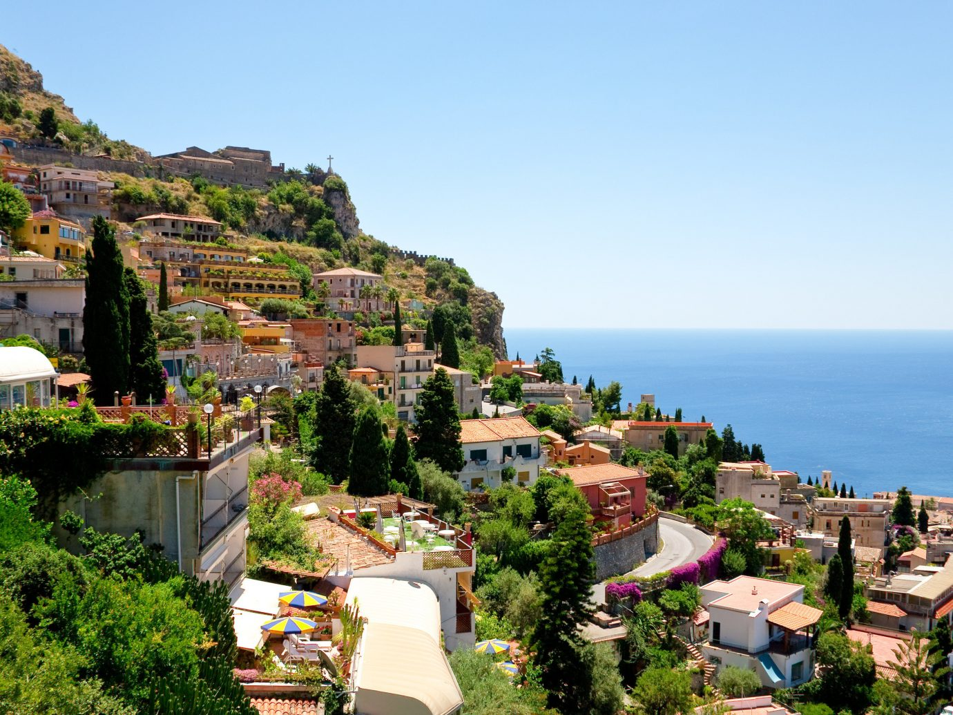Trip Ideas sky outdoor Town geographical feature Coast Nature vacation Sea neighbourhood human settlement residential area Village tourism City cityscape landscape bay estate overlooking hillside